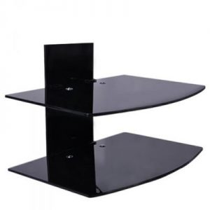 D-MARC 2 Steps Wall Mounted Glass Shelf