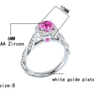 Women Fashion Wedding/Engagement Ring Rose Gold