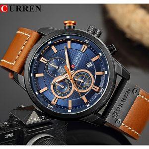 Curren Watch Men's Watches With Chronograph Sport Waterproof Clock Military Luxury Analog Quartz